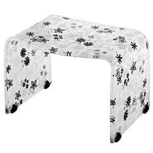 リス 風呂椅子 バスチェアー Mサイズ フィルロ フラワー ブラック|n-tools