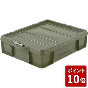 蓋付きコンテナボックス ラッチコンテナ 浅型 30WB 3000ml グリーン リッチェル|n-tools