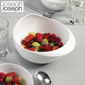 JosephJoseph(ジョゼフジョゼフ) ざる ボール プレップ&サーブ 1.8L ホワイト|n-tools