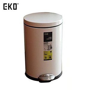 EKO ゴミ箱 ルナステップビン ホワイト 8L EK9219P-8L-WH|n-tools