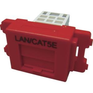 カテゴリ5EJISプレート用ジャックキット 赤 パンドウイット JAOSSP58RD-6260|n-tools
