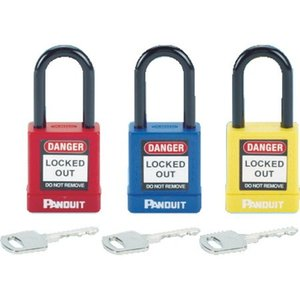 ロックアウト用非電導性パドロック 赤 パンドウイット PSL8-6260|n-tools