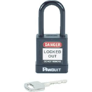 ロックアウト用非電導性パドロック 黒 (1個=1箱) パンドウイット PSL8BL-6260|n-tools