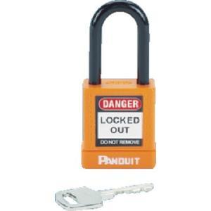 ロックアウト用非電導性パドロック オレンジ (1個=1箱) パンドウイット PSL8OR-6260|n-tools