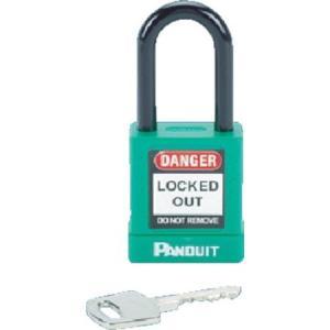 ロックアウト用非電導性パドロック 緑 (1個=1箱) パンドウイット PSL8GR-6260|n-tools