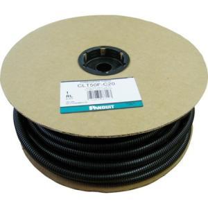 コルゲートチューブ ポリエチレン スリット付き 黒 パンドウイット CLT50FC20-6260|n-tools