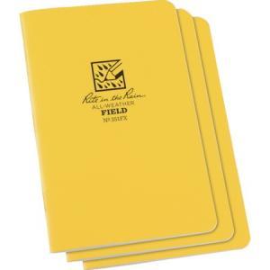 RITR 4 5/8X7 ステイプルノートブック(3冊セット) フィールド 351FX|n-tools
