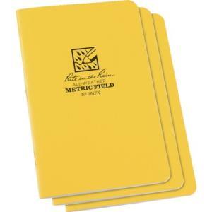 RITR 4 5/8X7 ステイプルノートブック(3冊セット) メトリック・フィ 361FX|n-tools