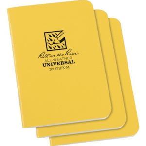 RITR 3 1/4X4 5/8 ミニステイプルノートブック(3冊セット) イエ 371FXM|n-tools
