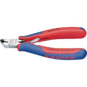 KNIPEX 6442-115 エレクトロニクスエンドカッティングニッパー 6442115|n-tools