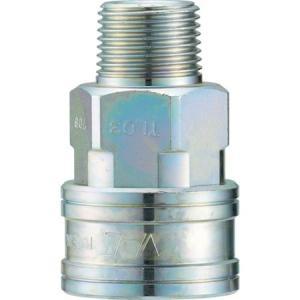 クイックカップリング TL型 鋼鉄製 メネジ取付用 ナック CTL08SM-5172|n-tools