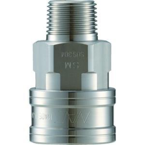 クイックカップリング TL型 ステンレス製 メネジ取付用 ナック CTL06SM3-5172|n-tools