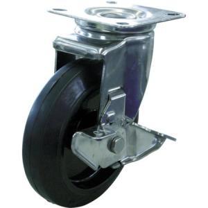 キャスターステンレス製自在車 150径ナイロンホイルゴム車輪 ユーエイ SUSNRJ2150-8076|n-tools