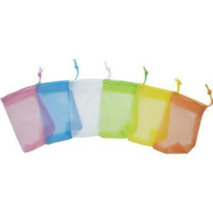 石鹸ネット ひもタイプ 6色アソート 24枚組 sanwa 101551-3426 n-tools