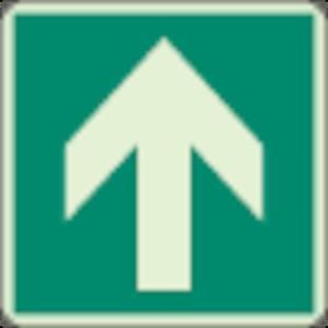 床面誘導標識 矢印 蓄光 300×300mm 合成樹脂 ユニット 82911A-8156|n-tools