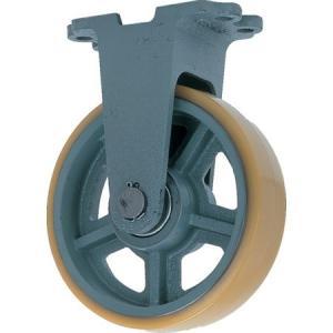 ヨドノ 鋳物重荷重用ウレタン車輪固定車付キ UHBーk100X50 UHBK100X50|n-tools