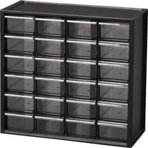 パーツ収納 パーツキャビネット PC-310 ブラック IRIS PC310BK-1256|n-tools