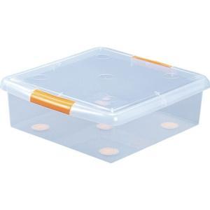薄型ボックス UG-475 クリア/オレンジ IRIS UG475-1256|n-tools