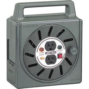 NJ-2型ボックスリール 単相100V接地付 10m アースチェック付 ハタヤ NJ101KE-6012 n-tools