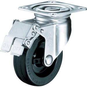 オールステンレス S型自在 SP付 ゴム車100mm ハンマー 315SRU100BAR01-6023|n-tools