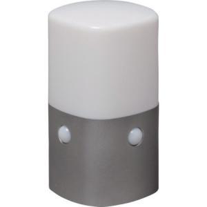 乾電池式LEDセンサーライト スタンドタイプ 角型 白色 IRIS OSLMN2KWS-1256|n-tools