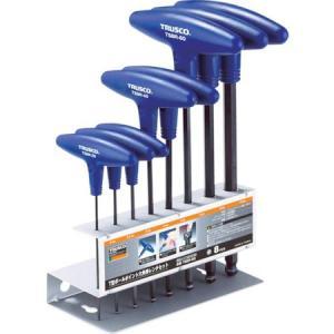 T型ボールポイント六角棒レンチセット 8本組 TRUSCO TSBR8S-3100 n-tools