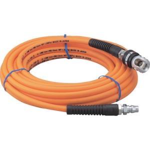 スィングカップリング付エアホース 8.5×12.5mm 10m TRUSCO TSRC8510-4500|n-tools