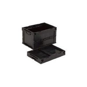 導電性折り畳みコンテナ 50L 黒 TRUSCO CRS50EA-8000|n-tools