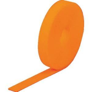 TRUSCO マジック結束テープ 両面 蛍光オレンジ 20mm×25m MKT20250LOR|n-tools