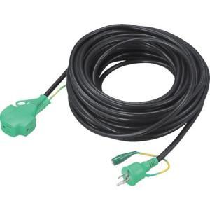 トリプルポッキン延長コード 極太ソフト電線 黒 TRUSCO TTP20E-8037|n-tools