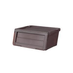 カバコ 収納ボックス(Sサイズ) クリアブラウン プロフィックス (プラスチック フタ付き 衣装ケース おもちゃ収納) 天馬|n-tools