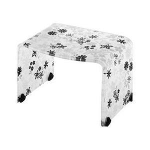 風呂椅子 フィルロ バスチェア 高さ20cm ブラックフラワー(風呂 イス 腰かけ) リス|n-tools