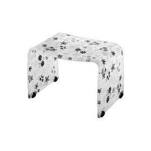 風呂椅子 フィルロ バスチェア 高さ25cm ブラックフラワー(風呂 イス 腰かけ) リス|n-tools