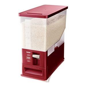 アスベル 計量米びつ 12kg型 洗える米びつ レッド (ライスストッカー 10kg) n-tools