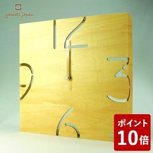 ヤマト工芸 PUZZLE WALL TYPE W 掛け時計 シナクリア・ナチュラル YK09-104 yamato japan|n-tools