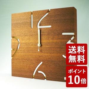 ヤマト工芸 PUZZLE WALL TYPE W 掛け時計 ウォールナット YK09-104 yamato japan|n-tools