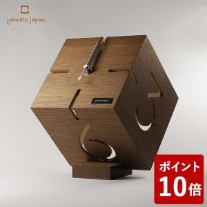 ヤマト工芸 PUZZLE STAND M 置き時計 ウォールナット YK09-106 yamato japan|n-tools