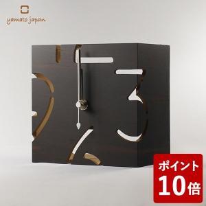 ヤマト工芸 PUZZLE STAND S 置き時計 黒檀 YK09-107 yamato japan|n-tools