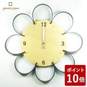 ヤマト工芸 FLOWER CLOCK 掛け時計 栗色 YK10-103 yamato japan|n-tools