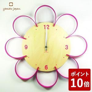 ヤマト工芸 FLOWER CLOCK 掛け時計 桃色 YK10-103 yamato japan|n-tools