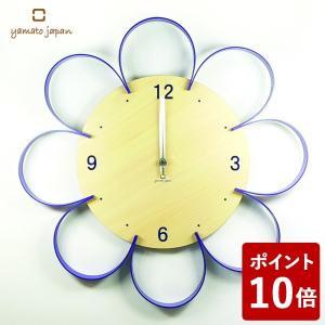 ヤマト工芸 FLOWER CLOCK 掛け時計 紫色 YK10-103 yamato japan|n-tools