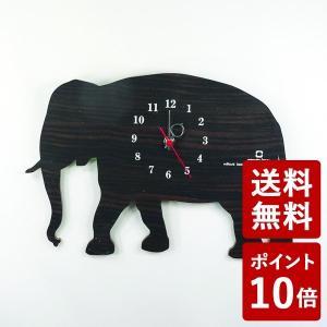 ヤマト工芸 SHADOW W 掛け時計 ゾウ 黒檀 YK10-104 yamato japan|n-tools