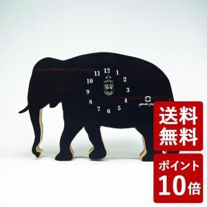 ヤマト工芸 SHADOW S 掛け時計 置き時計 ゾウ 黒壇 YK10-105 yamato japan|n-tools