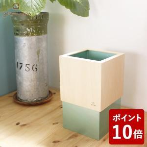 W CUBE ダストボックス 10L メタリックグリーン YK06-012 ヤマト工芸 yamato japan ダブルキューブ Wキューブ|n-tools