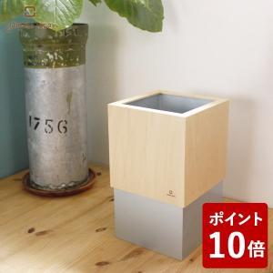 W CUBE ダストボックス 10L メタリックシルバー YK06-012 ヤマト工芸 yamato japan ダブルキューブ Wキューブ|n-tools