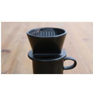 かもしか道具店 マグ (ドリッパー別売) 黒 山口陶器|n-tools