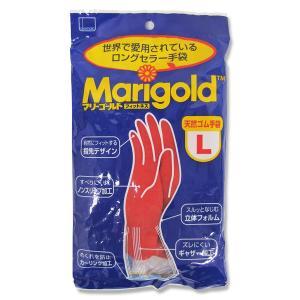 【定形外郵便】オカモト マリーゴールドフィットネス Lサイズ 1双入<ロングセラー!赤いゴム手袋>|n-yakuhin