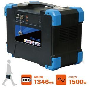 日本プロフィックス・エンジニアリング PVS-1346(ポータブルバッテリー リチウムイオンバッテリー ポータブル蓄電池 BCP対策) n-yakuhin