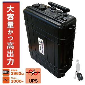 日本プロフィックス・エンジニアリング PVS-3000 U【UPS機能付きモデル】 (ポータブルバッテリー リチウムイオンバッテリー ポータブル蓄電池 BCP対策) n-yakuhin