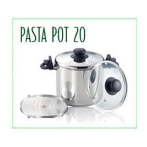 ・パスタ料理に最適、お鍋を持ち上げてカンタン湯切りができます。 ・ガラス蓋・蒸しす付なので煮込み・蒸...